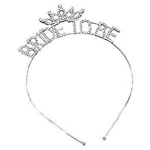 Uns Tiara Kopf Band Silber und klaren Strass (Bride to (Band Hats Kopf)