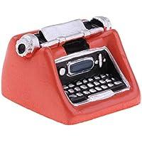 D DOLITY Modelismo de Máquina de Escribir Decoraciones de Muebles para Escala 1/12 Casa