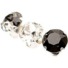 pewterhooter. 3 solos Pendientes de plata de ley 925 hechos con cristal brillante de SWAROVSKI® para Hombre.