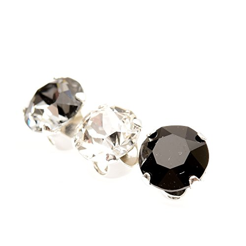 mens-3-single-sterling-silver-stud-earrings-expertly-made-with-crystal-black-diamond-and-jet-crystal