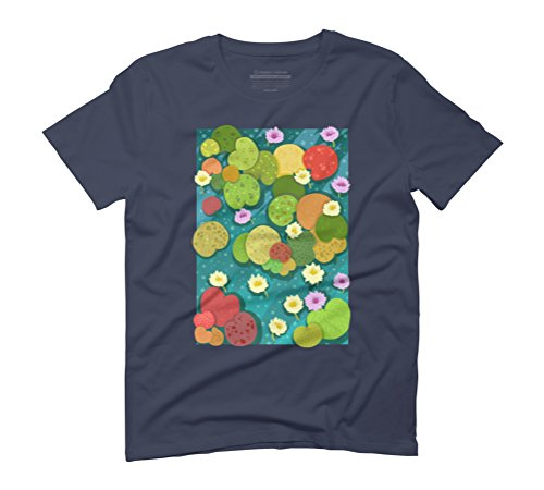Waterlily Men's Graphic T-Shirt - Design By Humans Navy