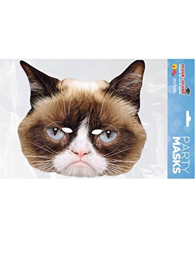 Generique - Maske Einer mürrischen Katze Grumpy Cat (Grumpy Cat Kostüm)