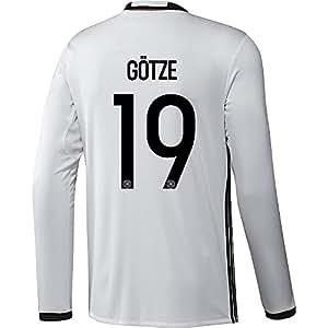 Adidas GOTZE #19 Deutschland Heim Trikot EURO 2016 Langarm (US-Größe)