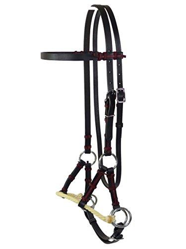 Sidepull mit Single Rope Nasenriemen, Schwarz, Thor Equine Full