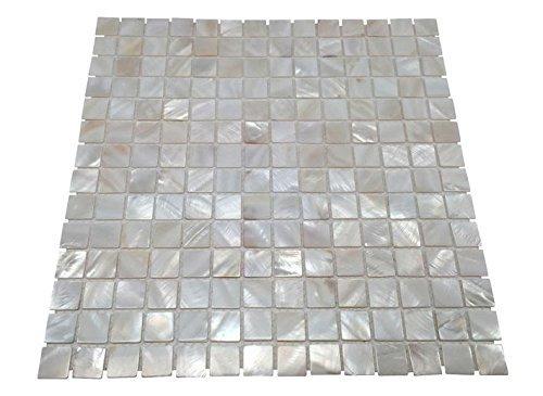 Küche Backsplash (OYSTER Perlmutt quadratisch Shell Mosaik Fliese für Küche backsplashes, das Badezimmer, Spas, Pools)