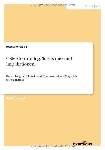 CRM-Controlling: Status quo und Implikationen Darstellung der Theorie und Praxis und deren Vergleich untereinander