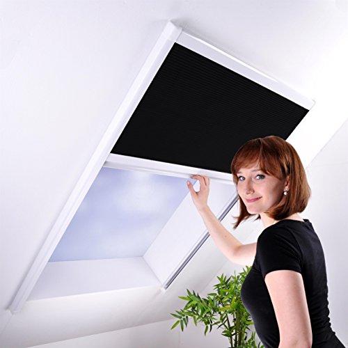matrasa Sonnenschutz-Plissee für Dachfenster - Sonnenschutzplissee Dachfensterplissee Sichtschutz weiß