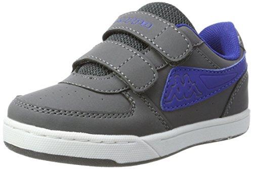 Kappa Unisex-Kinder Trooper Light Ice Kids Sneaker, Grau (1660 Grey/Blue), 35 EU