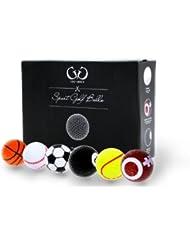 Golf Genius – 6 Novelty Balles de Golf – *Cadeau parfait*