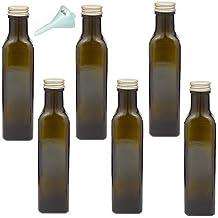 Viva Haushaltswaren 198186botellas de aceites 250ml con un cristal marrón/verde botella de cristal embudo, 4,7x 4,7x 21,3cm