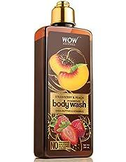 WOW Strawberry Peach Foaming Body Wash No Parabens Sulpha