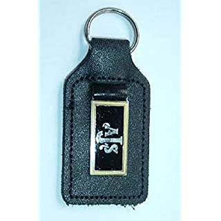 AJS Enamel and leather key ring