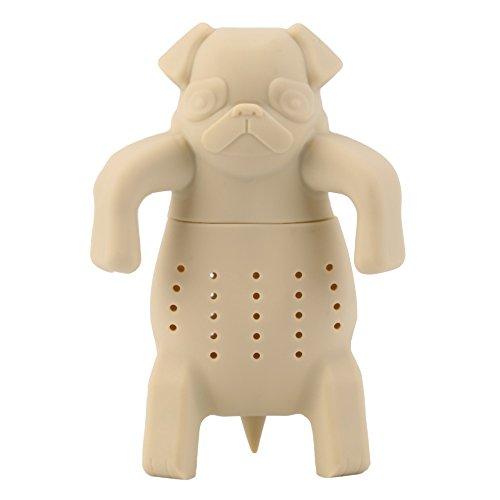 SomStyle (TM) Hundeform Teesieb ungeheftetes Sieb Herbal Silikon Filter Diffusor nagelneu (Gelb)