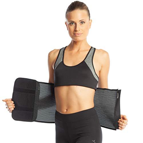 Bauchbinde Bauchband Bauch Binder Post Schwangerschaft Bauch Wrap Postpartale post-op Support (M (80-90 cm), Black) (Schwangerschaft Bauch-binder Für Die)