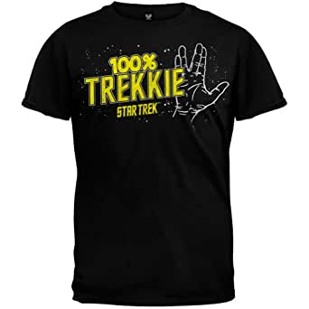 Star Trek - Mens 100% Trekkie T-shirt - Small Black