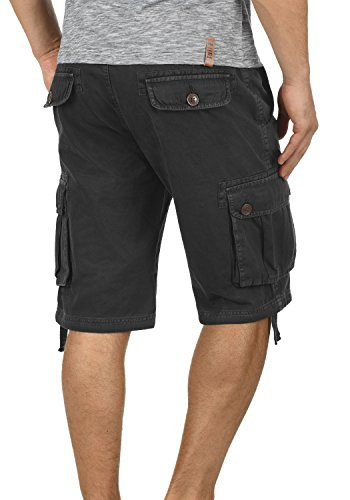 SOLID Vizela Herren Cargo-Shorts kurze Hose mit Taschen aus 100% Baumwolle Black (9000)