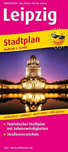 Leipzig: Touristischer Stadtplan mit Sehenswürdigkeiten und Straßenverzeichnis. 1:16000 (Stadtplan / SP)