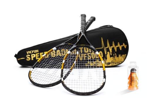 VICFUN Profi Speed-Badminton Set VF 5000, schwarz, 866/0/3