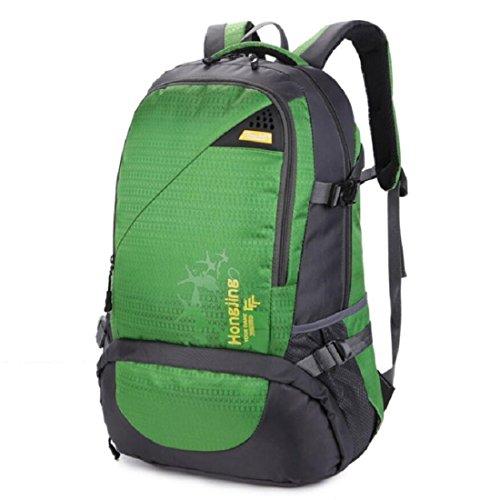 Z&N Backpack 40L GroßE KapazitäT Wasserdichtes Nylon Outdoor-Sport-UmhäNgetasche Reise-Bergsteigen Rucksack Aufbewahrungsbeutel Mehrzweck-Camping Freizeit Reitkoffer GepäCk Tasche F