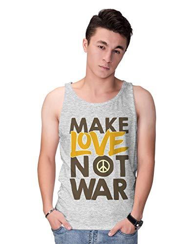 BLAK TEE Make Love Not War Peace Slogan Graffiti Herren Tank Top S