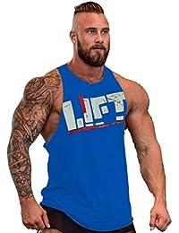 Befox Camisetas Elástica de Fitness sin Mangas Tank Top Gym para Hombre bcc17beb02d