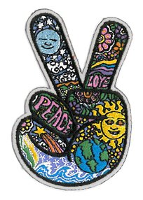 Dan Morris - Celestial Peace Fingers Patch ricamato toppa Embroidered Patch Protective Packaging