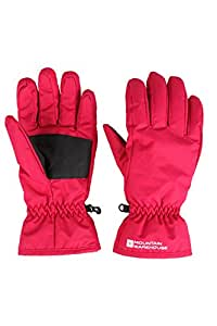 Mountain Warehouse Womens Snowproof Winter Warm Snowboard Skiing Fleece Adjustable Cuffs Ski Gloves Bright Pink Small