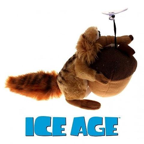Ice Age 3 Scrat mit Nuss 20 cm Plüschtier mit Saugnapf zum Aufhängen