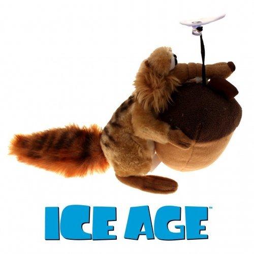 Ice Age 3 Scrat mit Nuss 20 cm Plüschtier mit Saugnapf zum Aufhängen (Disney Age Ice)