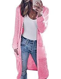 d72773c1965433 Autunno Inverno Donne Lungo Maglieria Cardigan Casual Manica Lunga Cappotto  Maglione Tops Coat Sweater Moda Outwear