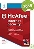 McAfee Internet Security 2019 | 1 Gerät | 1 Jahr | PC/Mac/Smartphone/Tablet | Download