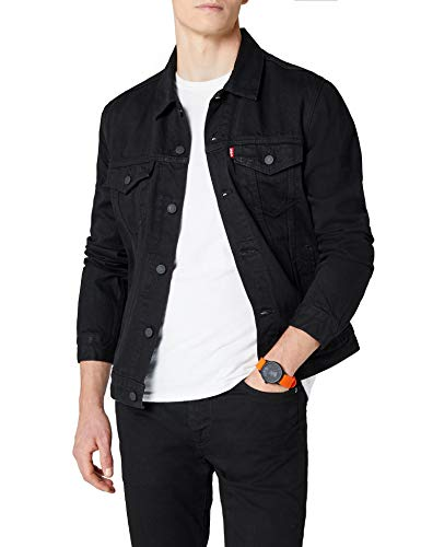 Levi's Herren The Trucker Jacket Jacke, Schwarz (Berkman 144), X-Large Urban Denim Jacke