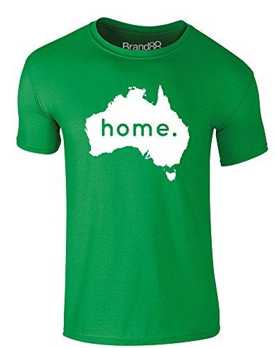 Brand88 - Home: Australia, Erwachsene Gedrucktes T-Shirt Grün/Weiß