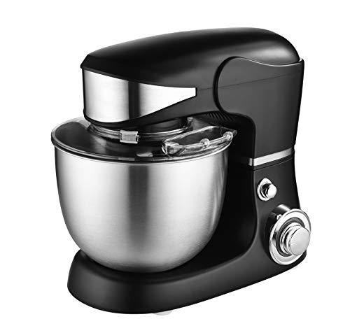 Venga! VG M 3014, robot da cucina e mixer con ciotola, motore da 1000 W, plastica, acciaio inossidabile, 5 L, colore nero
