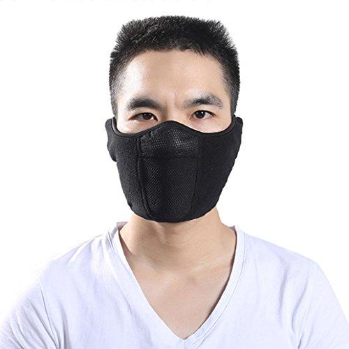 sunwords Unisex Outdoor Fleece Winter Warm gewaschen wiederverwendbar winddicht Gesicht Mund Maske für Ski Radfahren (Kostüme Polar Bear Halloween)