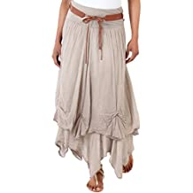 KRISP Maxi Jupe Longue Femme Boho Hippie Vintage Skirt
