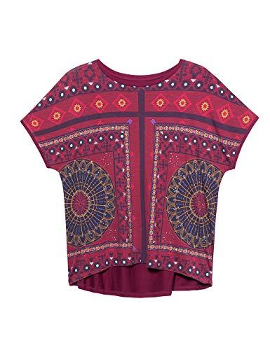 Desigual Women's T-Shirt Larisa Red (Carmin 3000), X-Large Img 4 Zoom