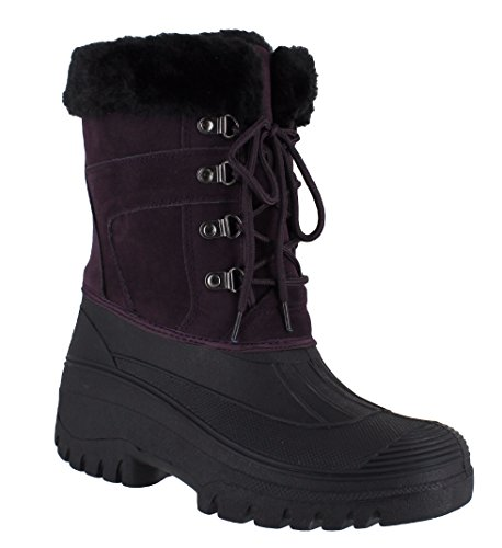 GroundWork LS005 Womens Mukker Stable Yard Winter Snow Lace Up Boots UK...
