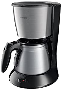 Philips HD7469/20 Cafetière Daily Noir et métal 1000 W Aroma Swirl