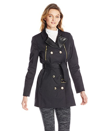 kensie-womens-double-breasted-trench-coat-black-x-small