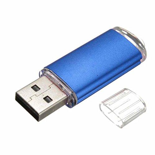 BZLine® Clé USB 2.0   Stockage de Données   Capacité : 1, 2, 4, 8, 16, 32Go   Forme d'un Bonbon, Multicouleur (Bleu, 1 Go)