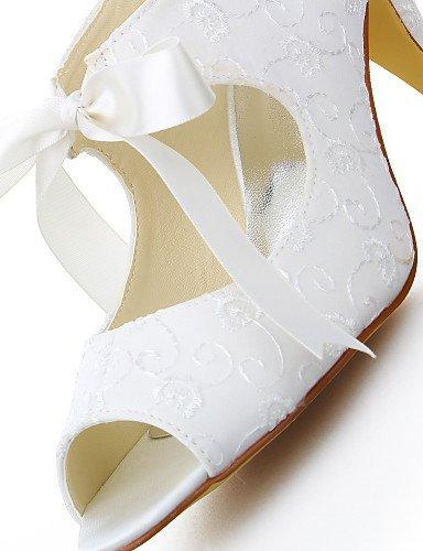 ShangYi Schuh Damen - Hochzeitsschuhe - Zehenfrei - Sandalen - Hochzeit / Kleid - Elfenbein 2in