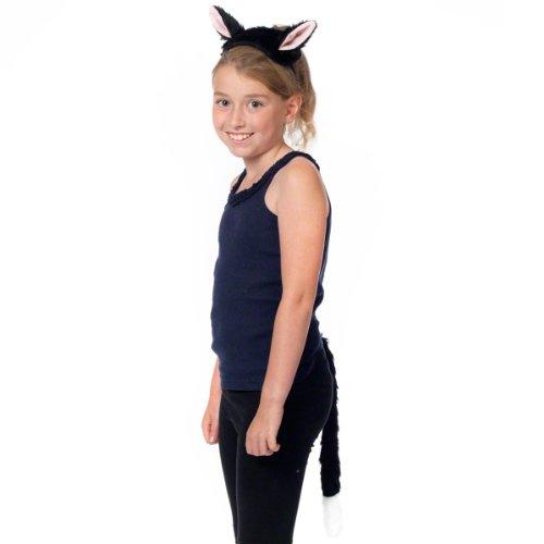Katze ohren und Schwanz für Kinder 3+ jahre. (Katze Halloween Kostüme Für Kinder)