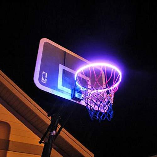 Igemy LED Basketball Felgenbefestigung mit Hoop Light LED bei Nacht Reifen zu Schießen (Mehrfarbig)