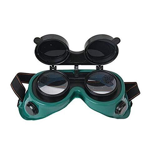 Occhiali di protezione anteriore flip-up Occhiali di sicurezza per lenti - Utilizzo per saldatura, saldatura, torching, brasatura e taglio dei metalli verde