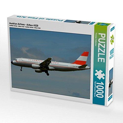 Austrian Airlines - Airbus A320 1000 Teile Puzzle quer (CALVENDO Mobilitaet)