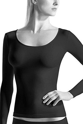 OROBLU T-Shirt Round Long Sleeve Rundhals Langarm Gr. S/M /LXL Schwarz