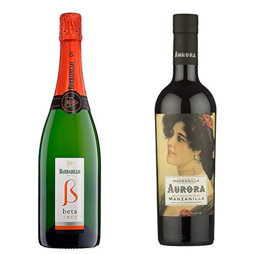 Beta Brut Y Manzanilla Aurora - Vino Espumoso Y D. O. Manzanilla Sanlúcar De Barrameda - 2 Botellas De 750 Ml