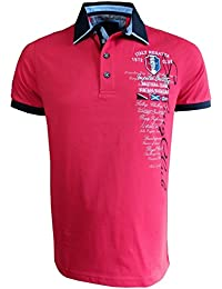Impulso Polo Shirt Vintage Yachting Club in Rot Blau Weiss Gr. M bis 4XL  17041409Y e5f0e50520