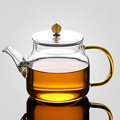 JZLMF Hitzebeständige Glas Teekanne Set Haushalt Große Trompete Heizbare Hochtemperatur Kungfu Tee Tee Verdickung (750 Ml) -